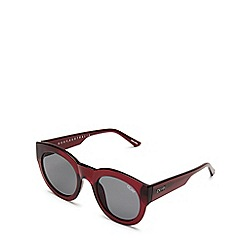Quay Australia - Red 'If Only' round sunglasses