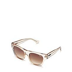 Quay Australia - Champagne 'Something Extra' square sunglasses