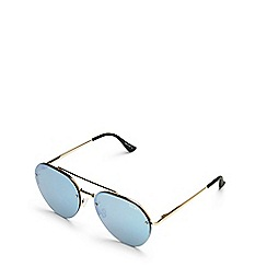Quay Australia - Gold 'Somerset' aviator sunglasses