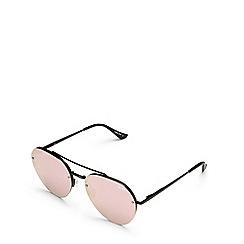 Quay Australia - Black 'Somerset' aviator sunglasses
