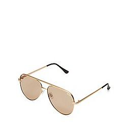 Quay Australia - Gold 'Sahara' aviator sunglasses