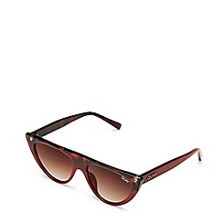 Quay Australia - Brown 'Run Away' cat eye sunglasses