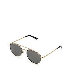 Quay Australia - Gold 'Little J' round sunglasses