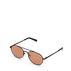 Quay Australia - Black 'Little J' round sunglasses
