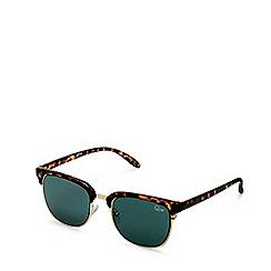 Quay Australia - Brown 'Flint' square sunglasses