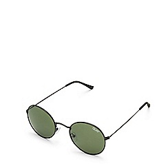 Quay Australia - Black 'Mod Star' round sunglasses