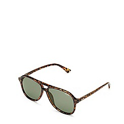 Quay Australia - Brown 'Magnetic' aviator sunglasses