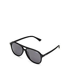 Quay Australia - Black 'Magnetic' aviator sunglasses
