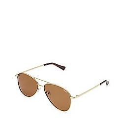 Quay Australia - Gold 'Still Standing' aviator sunglasses