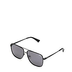 Quay Australia - Black 'Modern Times' aviator sunglasses