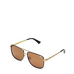 Quay Australia - Brown 'Modern Times' aviator sunglasses