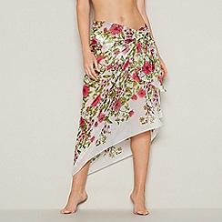 Debenhams - White floral print 'Garden' sarong