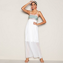 MW by Matthew Williamson - White sequin embellished chiffon full length maxi dress