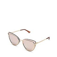 Quay Australia - Gold 'Primrose' cat eye sunglasses