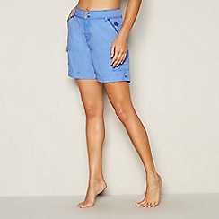 Mantaray - Blue poplin cotton shorts