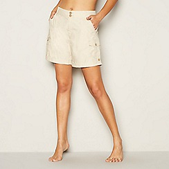 Mantaray - Natural poplin cotton shorts
