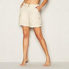 Mantaray - Natural poplin cotton shorts