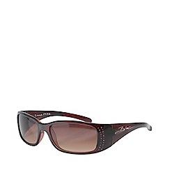 Bloc - Red 'Luna' Medium Rectangular Sunglasses