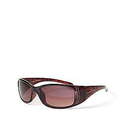 Bloc - Brown 'Luna' Medium Rectangular Sunglasses