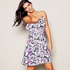The Collection - Lilac Botanical Tile Print Mini Dress