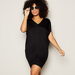 Beach Collection - Black 'Cocoon' Mini Kaftan