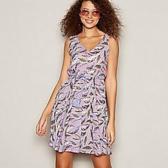 Mantaray - Purple Floral 'Indian Summer' Mini Dress