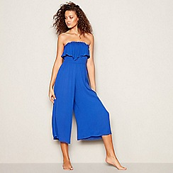 Floozie by Frost French - Blue Bandeau Culotte Jumpsuit