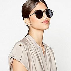 Faith - Black Round Aviator Sunglasses