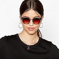 Faith - Brown Tortoiseshell Round Sunglasses