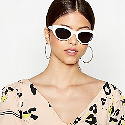 Faith - White Cat Eye Sunglasses