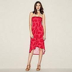 Mantaray - Pink 'Sunlit Glow' High Low Bandeau High Low Dress