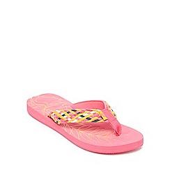 Mantaray - Pink Woven 'Sunlit Glow' Flip Flops
