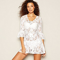 Floozie by Frost French - White Floral Lace Kaftan