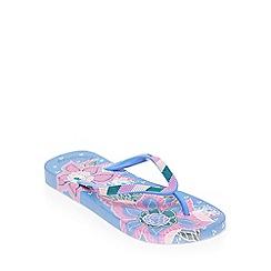 Mantaray - Purple Indian Summer Print Flip Flops