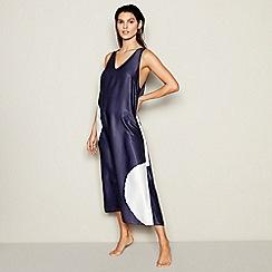 J by Jasper Conran - Navy Spot Print Midi Beach Dress