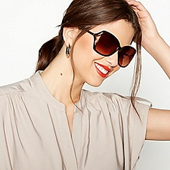 Beach Collection - Brown Tortoiseshell Oversized Sunglasses