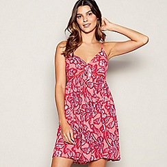 Beach Collection - Red Ombre Paisley Mini Dress