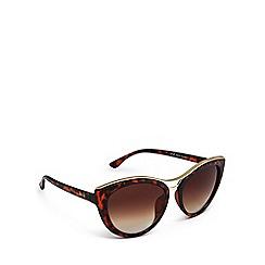 Lipsy - Brown tortoiseshell cat eye sunglasses