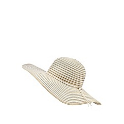 Beach Collection - Gold beaded floppy hat