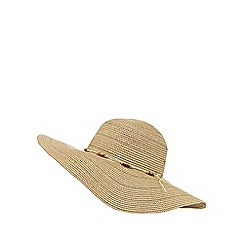 Beach Collection - Natural beaded floppy hat