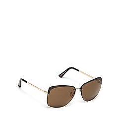 Beach Collection - Gold rimless sunglasses