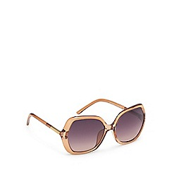 Beach Collection - Brown oversized sunglasses
