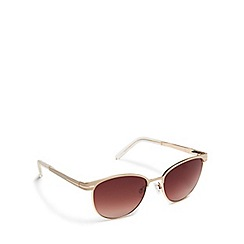 Floozie by Frost French - Gold round sunglasses