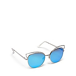Floozie by Frost French - Silver cat eye sunglasses
