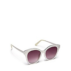 Floozie by Frost French - White marble-effect cat eye sunglasses