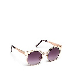Floozie by Frost French - Rose gold cage cat eye sunglasses