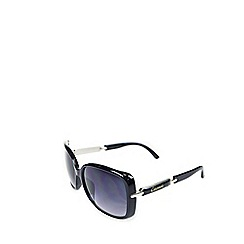 Gionni - Black oversized d-frame sunglasses