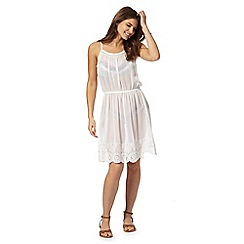 Butterfly by Matthew Williamson - White knee length beach dress