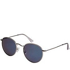 Pilgrim - Brianna silver plated blue sunglasses