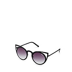 Quay Australia - Black 'Invader' oversized cat eye sunglasses
